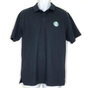 Starbucks Logo Black Polo Shirt